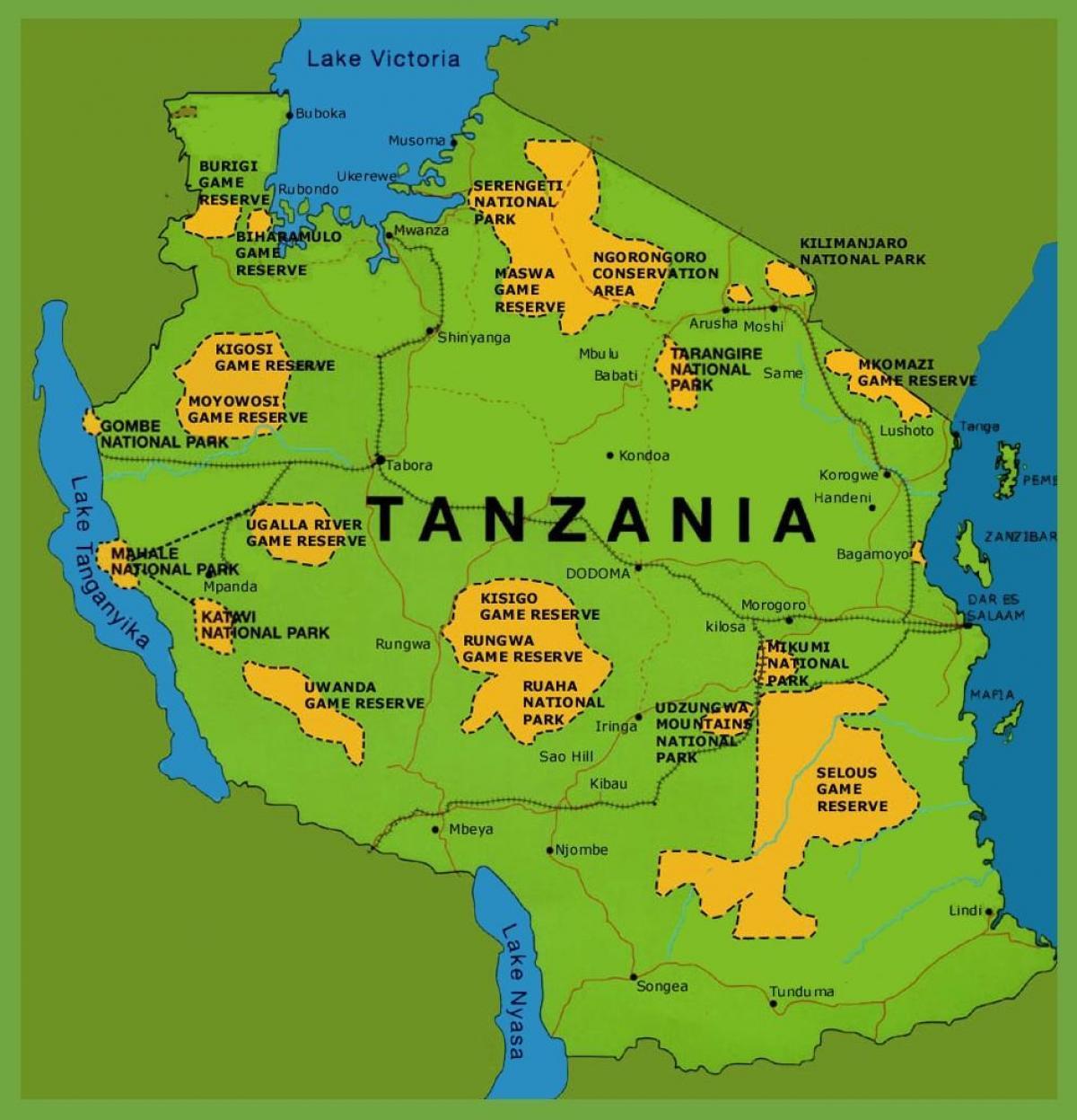 Karte Anzeigen.Tansania Karte Eine Karte Von Tansania Ost Afrika Afrika